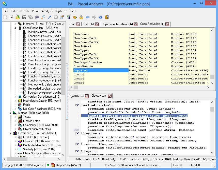 Pascal Analyzer screenshot